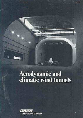 1988 Fiat Factory Wind Tunnel Brochure Poster  wn7958-Q9RRAO