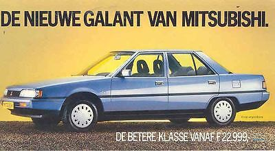 1985 ? Mitsubishi Galant Sedan Large Postcard Dutch  wn9021-AUW5S8