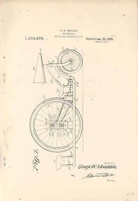1920 George Mouldin Motorcycle US Patent Brochure wn9331-9Q86IL