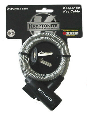 Kryptonite Coiled Cable Key Lock Bike Chain  90cm x 8mm