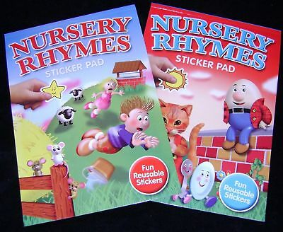 New  2 Nursery Rhymes Sticker And Colouring In Pads Books  Alsale !!!