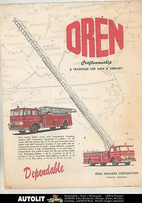 1958 ? International Ford Oren Fire Truck Brochure Fulton State Hospital ws3455