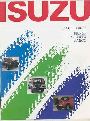 1989 1990 Isuzu Pickup Truck Trooper Amigo Accessories Brochure ws3635-XH9SUX