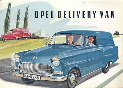 1957 Opel Olympia Sedan Delivery Brochure wl7804-RY1168