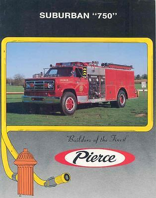 1988 Pierce Ford GMC Fire Truck Brochure Frazee Hebron  wl8140-PYQYBA