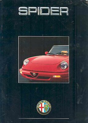 1993 Alfa Romeo Spider 2.0 Brochure German wl8772-7ML64G