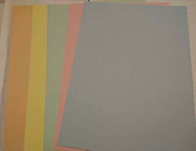 20 x A4 SHEETS OF 160gsm MIXED PASTEL COLOURED CARD FREE FIRST CLASS POSTAGE