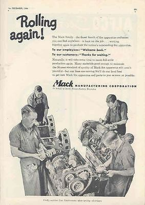 1946 Mack Fire Truck Engine Ad wk2110-A2EITF