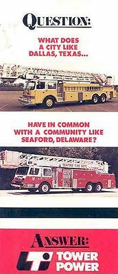 1982 LTI Ladder Fire Truck Brochure Dallas Seaford Del wk3568-UII8R6