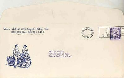 1962 Long Island Cross Island Motorcycle Club Party Inv wk6426-WZ2DHG