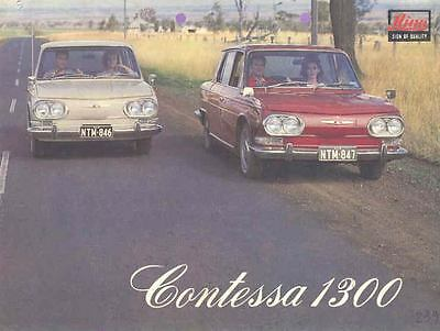 1965 ? Hino Contessa 1300 Brochure French Michelotti wk6610-BTQFHL