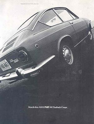 1968 Fiat 850 Coupe Ad wk9706-EEM26W