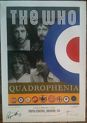 The Who - Denver  - SIGNED (by Daltrey & Townshend!!!) Quadrophenia Poster