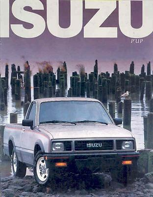 1987 Isuzu P'UP Pickup Truck Sales Brochure wj4397-OULCP1