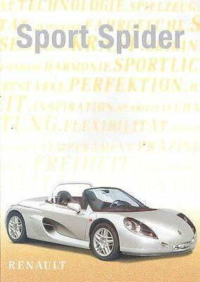 1998 Renault Sport Spider Race Car Brochure Poster wj7298-3GMK2A