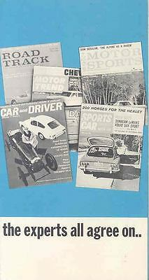 1962 Sunbeam Alpine and Harrington LeMans Brochure wj9011-84IY9C