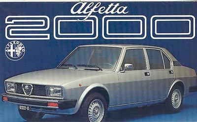 1982 Alfa Romeo Alfetta 2000 Sedan Brochure Dutch  wj9297-8RE7B3