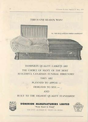 1970 Dominion Casket Ad  wi2216-SNG4KH