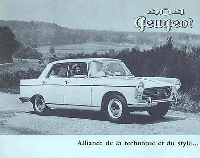 1961 Peugeot 404 Sales Brochure French wi4505-SEGFO2
