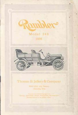 1908 Rambler Model 248 Sales Brochure wi8478-FY9O99