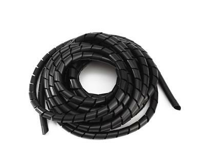 8mm 42.6FT (13M) Spiral Cable Wire Wrap Tube Computer Manage Cord Black