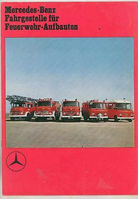 1972 Mercedes Benz Ladder Pumper Rescue Fire Truck Prest. Brochure German ws4988