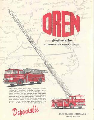 1963 Oren Fire Truck Brochure Fulton Hospital Paris wh1986-TQSJYZ