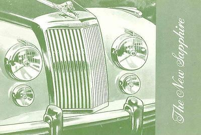1953 Armstrong Siddeley Sapphire Saloon Brochure  wh2920-9MUXW4