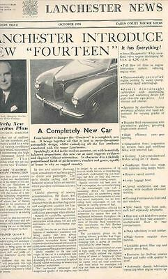 1950 Lanchester 14 Factory Magazine wh4193-ISABH1