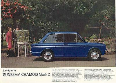 1966 Sunbeam Chamois Mark 2 Brochure French  wh8082-RIJKEZ