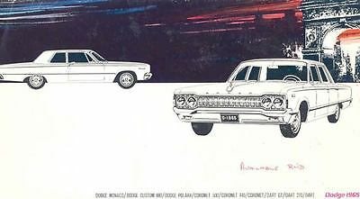 1965 Dodge Full Line Brochure Export Switzerland wg149-J5WRZC