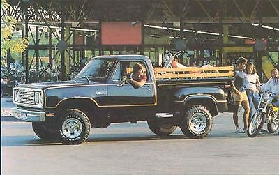 1978 Dodge Warlock Pickup Original Factory Postcard wg6010-8MCNL2