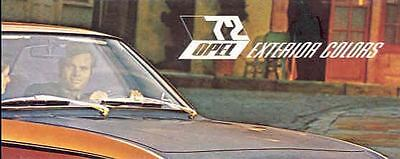 1972 Opel GT & 1900 Paint Colors Brochure wg8193-U8IC7Q