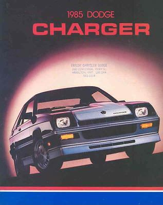 1985 Dodge Charger & Shelby Brochure Canada wg9885-1NSKPO