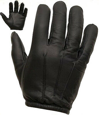 Combat Security Spectra Anti Slash Leather Gloves Black Flame Fire Resistant Sia