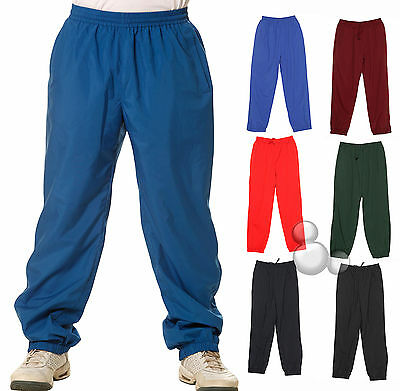 Kids Training Pants Size  6 8 10 12 14  Warm Up Sports 6 Colours School New