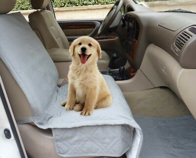 Single Car Seat Cover For Pets. Deluxe Quilted Padded. Extra Coverage. Khaki