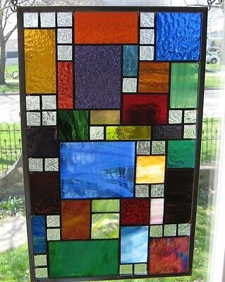 Phychedelic Stained Glass Windows Transom Sidelight