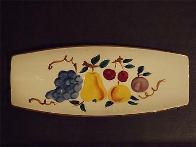 Vintage Stangl Fruit Pattern Footed Bread RelishTray Serving Dish -Beauty!
