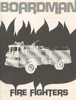 1974 Boardman Fire Truck Sales Brochure & Packet wf1842-G8LFY8
