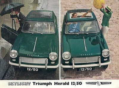 1964 Triumph Herald 12/50 with Sunroof Brochure wf3258-VGC4ZR