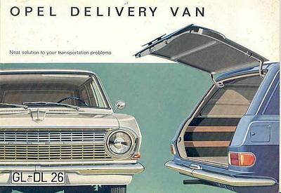 1965 Opel Sedan Delivery Van Sales Brochure wf3590-S7SN8C