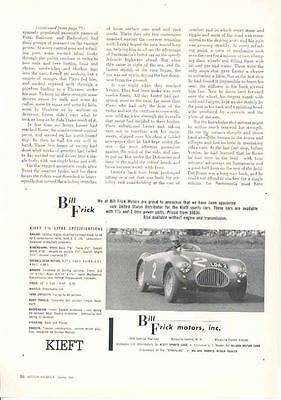 1954 Kieft MG 1500 Frick Magazine Advertisement wd228-BHNO2R