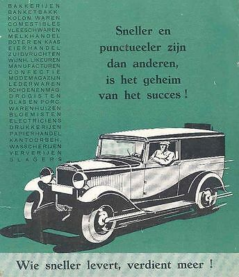 1932 Opel Sedan Delivery Sales Brochure Dutch wd4662-6OTQKV