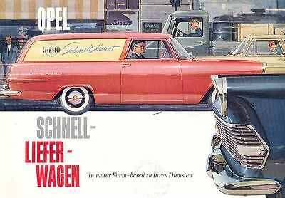 1960 Opel Sedan Delivery Sales Brochure German wd5149-DF77AE