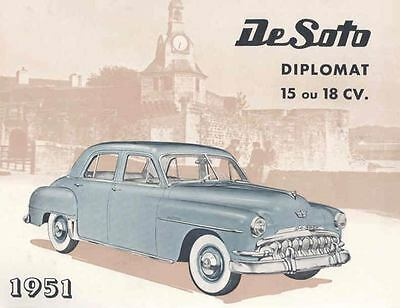 1951 DeSoto Diplomat Brochure Export Dutch French wd6529-PSFTXO