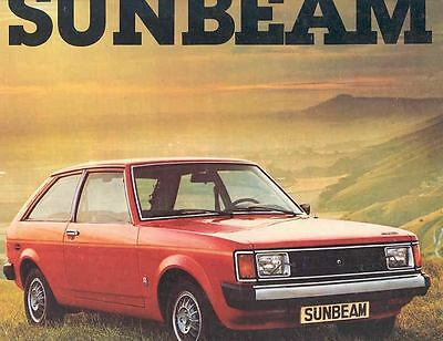 1978 Chrylser Sunbeam Brochure Dutch wd9307-MDNO1N