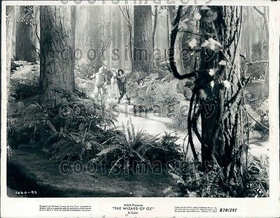 1970 Scene From The Wizard of Oz Judy Garland Jack Haley Ray Bolger Wire Photo