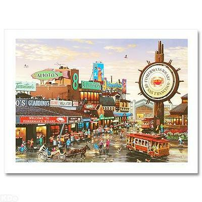"""Alexander Chen! """"Fisherman's Wharf"""" Artist Proof Limited Edition Lithograph COA"""