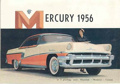 1956 Mercury Brochure Export Dutch wc5595-OBIIED